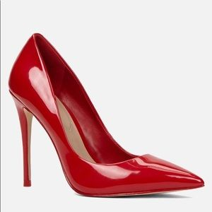 ALDO patent red leather heel